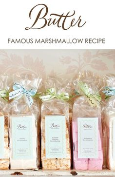 learn to make these gourmet marshmallows | perfect for holiday baking and gifting | Butter's Famous Marshmallow Recipe