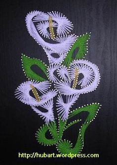 stringart_arum_lily  I made it on wood. flower / Arends kelk. Board size 320 x 220 x 15 mm