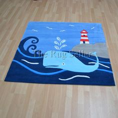 Childrens glowy rugs 3096 53 whale buy online from the rug seller uk
