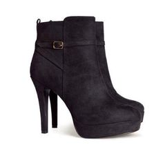 Over the ankle booties like these but not suede  and nothing too crazy tall