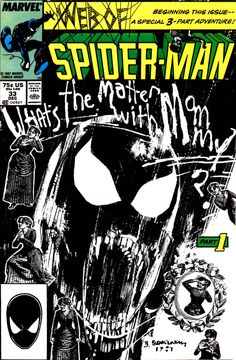 """""""Life in the Mad Dog Ward"""" - Web of Spider-Man N°33 (1997) - Cover by Bill Sienkiewicz"""