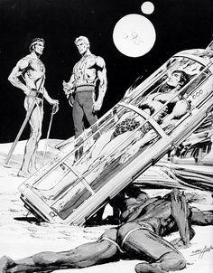 John Carter, Flash Gordon and Tarzan by Neal Adams