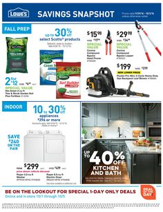 Lowe's Weekly Ad September 29 - October 3, 2016 - http://www.olcatalog.com/home-garden/lowes-weekly-ad.html