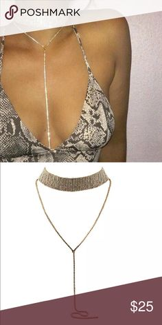 Gold Choker Chain Necklace brand new Jewelry Necklaces