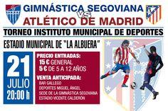 Este sábado 21 de julio a las 20 horas el nuevo Atlético se viste de largo en La Albuera frente a la Gimnástica Segoviana. Hasta el jueves (de 9 a 19 horas) puedes conseguir tus entradas en el Vicente Calderón. Haz click sobre la imagen para más información ¡Nos vemos allí! ;)