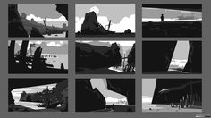 3 Thumbnails for a Sense Collective painting I'm working on. Just thought…
