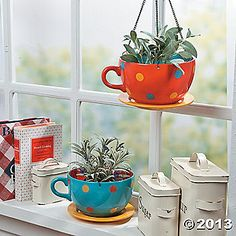 Coffee Cup Hanging Planters