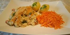 30 middager under 70 kr for fam på 4 Norwegian Food, Norwegian Recipes, Scampi, Risotto, Grains, Eggs, Snacks, Chicken, Breakfast