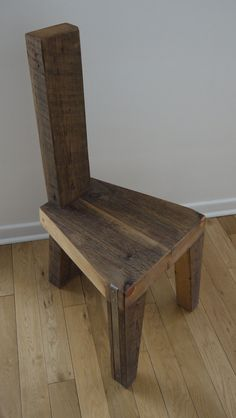 Reclaimed Wood Dinning Chair by TicinoDesign,