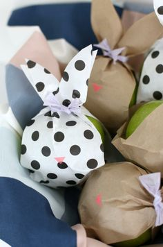 Healthy and cute - Bunny fruit bags