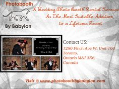 Prior to your wedding, things get hectic. You have to hire the best DJ, a good catering service, to check the venue, so you may neglect the importance of choosing the wedding photo booth rental service carefully.For more details visit our website @ http://www.photoboothbybabylon.com/