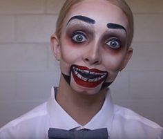 Creepy Dummy Halloween Makeup Tutorial & DIY Costume  by rachellevalenzuela