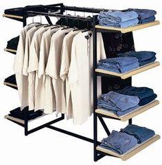 Designer 411 Double Rail Combination Rack Only Garment Racks…