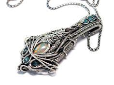 Futuristic Opal Rough Diamond Statement Necklace by MarryTheNight4, $540.00  Pretty wild stuff !