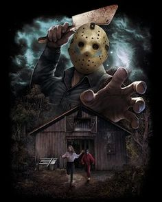~Friday The ~Jason Voorhees ~Classic Horror Movie ~Camp Crystal Lake ~ Posters Geek, Horror Icons, Horror Movie Posters, Jason Voorhees, Horror Artwork, Horror Movie Characters, Iconic Characters, Kino Film, Classic Horror Movies