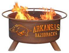 Cool gift for the die-hard fan - Razorbacks Fire Pit