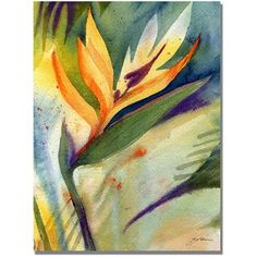 Trademark Art Bird of Paradise Canvas Wall Art by Shelia Golden, Size: 24 x 32, Multicolor