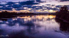 couleurs d'automne - coucher de soleil au bord de Loire