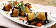 Rulouri de vinete cu rosii - Mancaruri legume - Retete Vegetariene