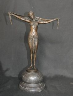 Art Deco Bronze Figurine Signed Chiparus Star Dancer