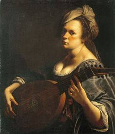 Artemisia Gentileschi, Autoportrait au luth, Minneapolis, Minnesota : Curtis Galleries, vers 1615-1619.