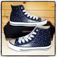 Custom Converse for Wedding   ... converse # customconverse # swarovski # crystal # bling # wedding