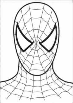 Spiderman Face, Spiderman, Coloring Pages - Free Printable Ideas from Family Shoppingbag.com