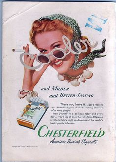 Chesterfield #vintage #ads