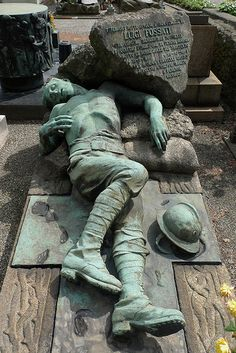 Luigi Fossati 1918 Cimitero Monumentale Milano, re-pinned by www.jane-davis.co.uk