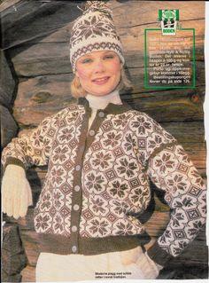 Selbujakke og lue. Norwegian Knitting, Textiles, Diva, Sweaters, Cardigans, Men Sweater, Fashion, Tricot, Moda