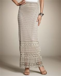 Spring 2012 - crochet trend.  This skirt would look great with a crisp white blouse, belted!