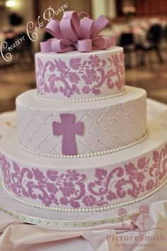 Buttercream Baptism Cake by Creative Cake Designs (Christina), via Flickr