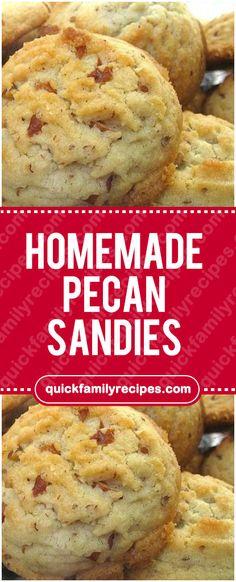 HOMEMADE PECAN SANDIES#homemade #pecan #sandies #easyrecipe #delicious #foodlover #homecooking #cooking #cookingtips Pecan Cookies, Coconut Cookies, No Bake Cookies, Yummy Cookies, Cake Cookies, Cookies Et Biscuits, Cupcakes, Cookie Brownie Bars, Cookie Desserts