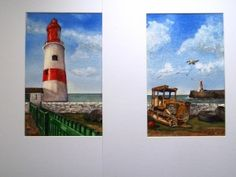 """Souter Lighthouse & The Old Tractor"" by Graham Ibson"
