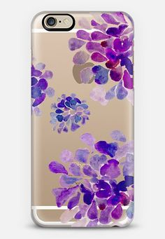 purple flowers iPhone 6 case by Marianna | Casetify