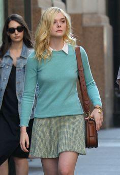 Elle Fanning On The Set Of New Woody Allen Film : ウディ・アレン監督の題名未定の映画を撮影中のエルたん ! ! - CIA Movie News