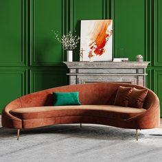 Gebogenes Sofa, Sofa Furniture, Sectional Sofas, Modern Furniture, Sleeper Sofa, Living Room Sofa, Living Room Furniture, Living Room Decor, Living Spaces