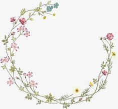Flower Pattern Drawing, Flower Patterns, Watercolor Cards, Watercolor Flowers, Flower Frame, Flower Art, Salon Art, Wreath Drawing, Decoupage Vintage
