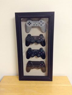 Playstation 4 3 2 1 History Decor Shadow Box Framed