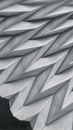 Chevron Pleats - fabric manipulation; architectural pleating; textile design // Reiko Sudo
