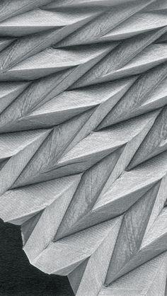 Chevron Pleats - fabric manipulation; architectural pleating; textile design // Reiko Sudo