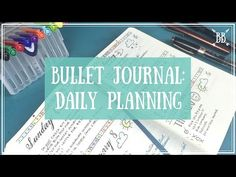 Bullet Journal - Daily Planning - YouTube  I love the way she does her year at a glance pages! It shows them at the 4 minute mark of the video.