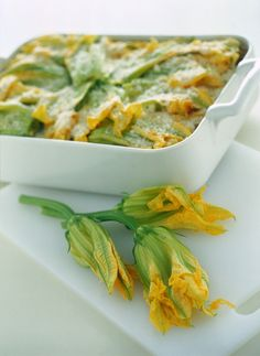 Lasagne zucchine e fiori di zucca