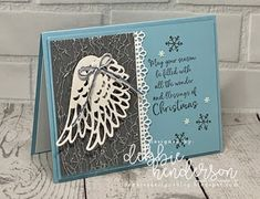 Wings Card, Christmas Card Pictures, Christmas Bird, Angel Cards, Stamping Up Cards, Winter Cards, Sympathy Cards, Folded Cards, Creative Cards