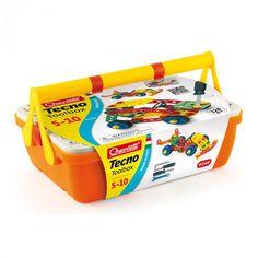 Tecno Toolbox - Cassetta con fascia - costruzioni - 6140| Quercetti