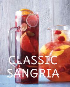 Classic Sangria | Martha Stewart Living- The flavors of the fruit blend more thoroughly when the sangria sits overnight.