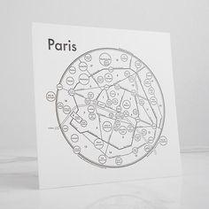 Paris Letterpress Print