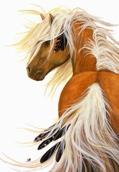 """Flaxen Majestic Horse Palomino"" par AmyLyn Bihrle"