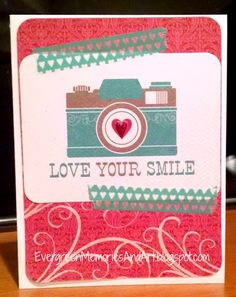 Evergreen Memories: Easy Valentine's to create Use the Heartstrings Picture My Life cards.  Add a puffy and washi tape!