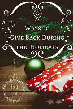 9 Ways to Give Back During the Holidays - The Mommy Mix Diy Christmas Cards, All Things Christmas, Christmas Holidays, Christmas Bulbs, Christmas Gifts, Christmas Ideas, Merry Christmas, Holiday Crafts For Kids, Holiday Themes